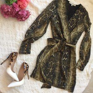 Animal print silk summer dress